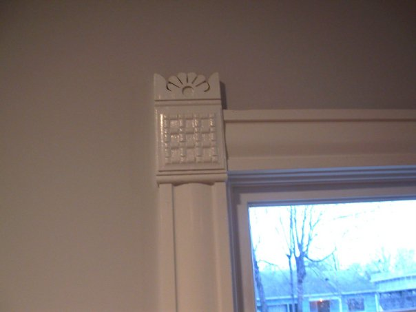 Interior door and transom for Cottage style interior trim