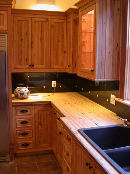 Heart Pine Cabinets